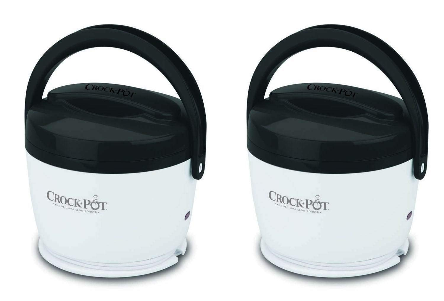2 Crock-Pot SCCPLC200-G-NP Portable Lunch Crock Slow Cooker Food Warmers 20 oz.