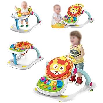 CX Best Actividad Andador 4 en 1 Cochecito de bebé Adecuado para 3 ...