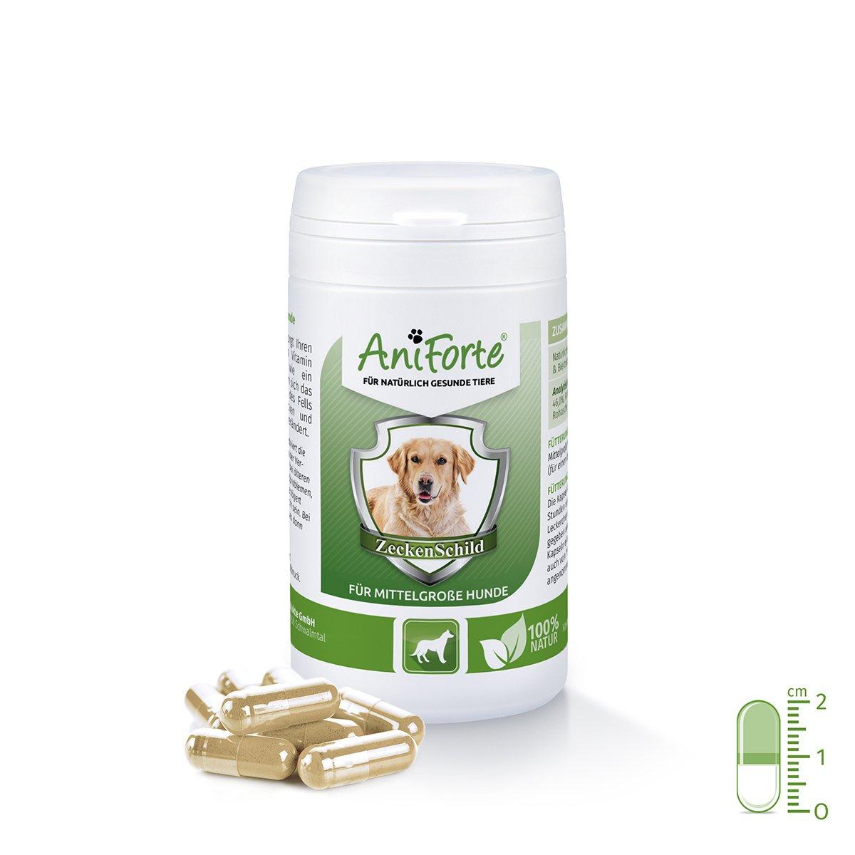 AniForte Zeckenschild natürlicher Zeckenschutz 60 Kapseln - Naturprodukt für mittelgroße Hunde 10- 35 kg Görges Naturprodukte GmbH