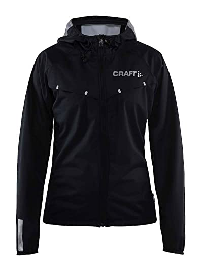 Craft Mens Repel Running and Training Outdoor Sport Windproof and Waterproof Reflective Fitted Hooded Jacket