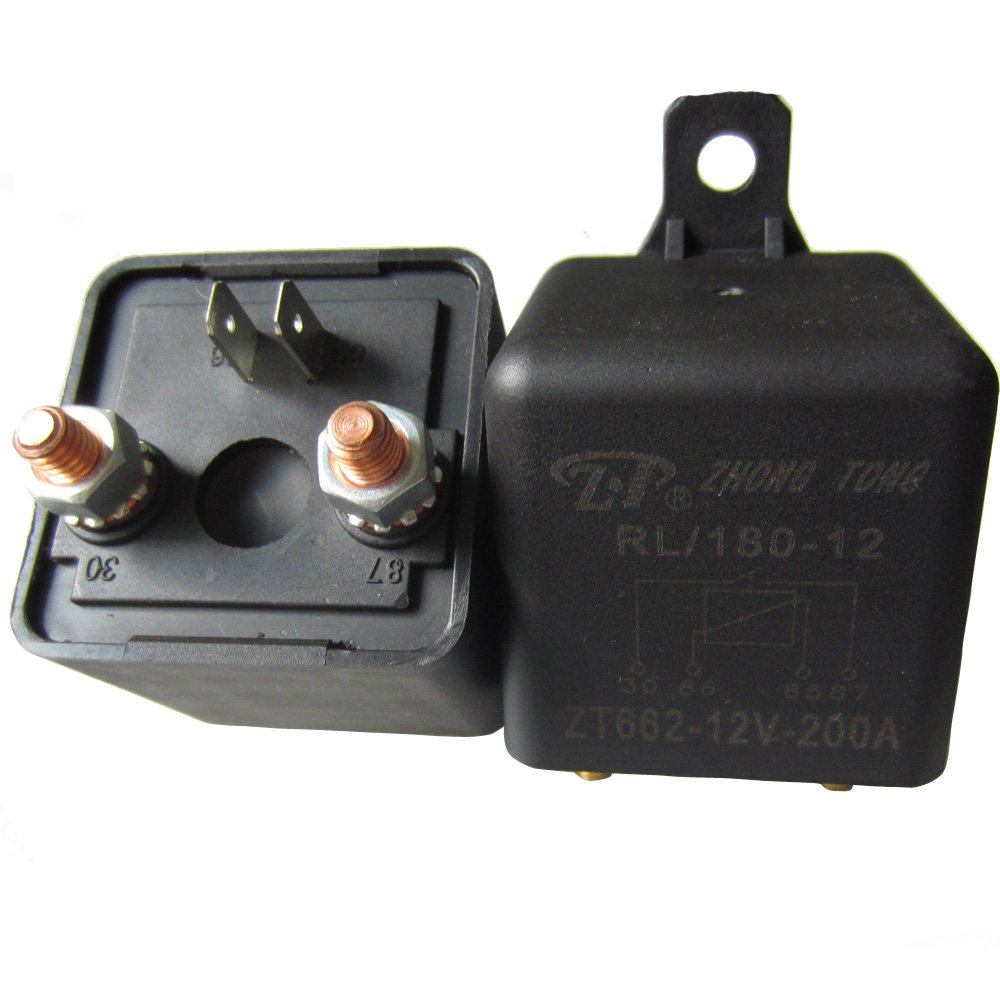 ESUPPORT Car Auto Heavy Duty Split Charge DC 12V 100A 100 AMP SPST Relay 4 Pin 4P RL180