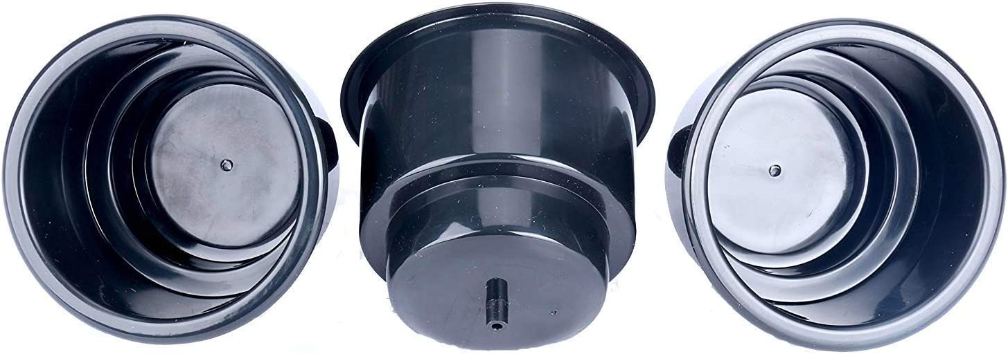 Amarine Made Recessed Plastic Cup Drink Can Holder with Drain Hole for Boat Truck Car Table Black 8