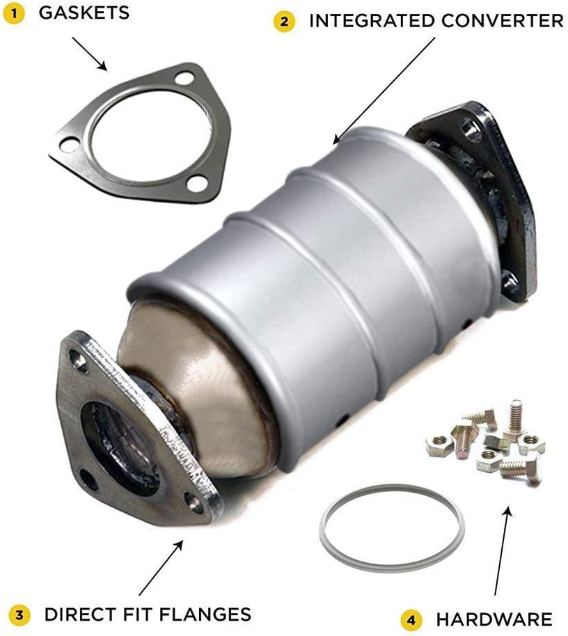 Accord TL Ridgeline Acura MDX Honda Pilot Main Catalytic Converter Direct Fit OBDII with Gaskets Included Xotic Exhaust Odyssey
