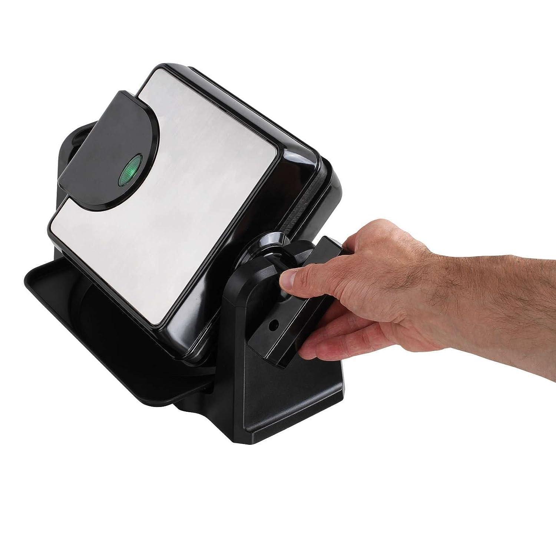 /Gofrera Forma Rectangular, antiadherente, 1000/W, termostato regulable, Giratorio Gofrera rotatoria 4/cuadradas gofres/