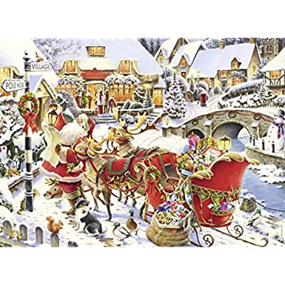 Nathan Puzzle Arrivo Del Babbo Natale 500 Pezzi 87152