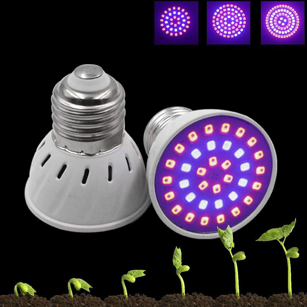 Organic Eclairage pour plantes Ampoule LED Grow Light E27 E14 3W 4W 5W 2835 SMD Plant Flower Aquarium Hydroponic Red Blue Full Spectrum Plant Light for Hydroponics Greenhouse for Veg Bloom