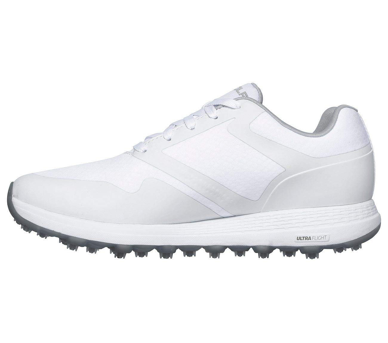 Skechers Women's Max Golf Shoe, White/Gray 7 W US