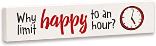 product image for Imagine Design Relatively Funny Why Limit Happy, Stick Plaque, Red/Black/White