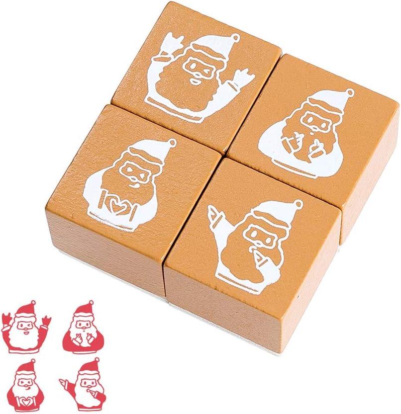 Nat/ürliche Pflanze Boxed Seal Set Lychii Holzstempel zum Basteln Geschenkanh/änger Keksstempel Tischdeko 20 PCS Gummi Holz Vintage Holzstempel Hochzeit