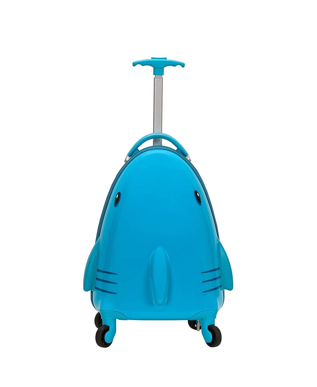 Rockland Jr. Kids' My First Luggage Polycarbonate Hardside Spinner, Shark