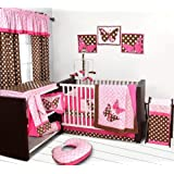 Butterflies pink/chocolate 10 pc Crib Set