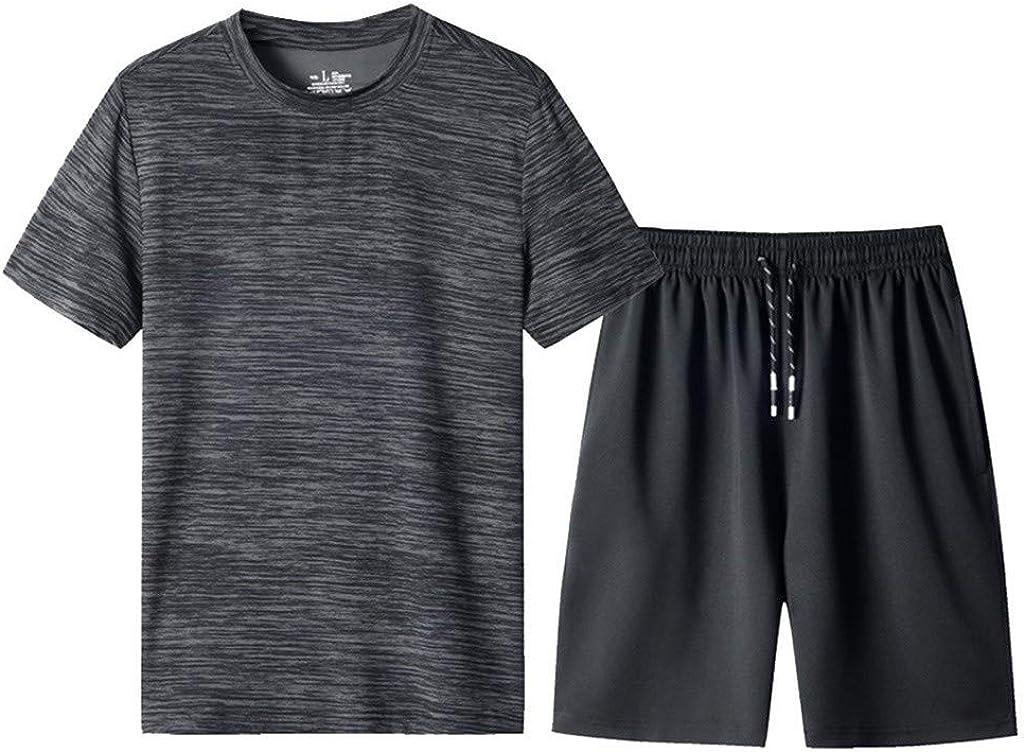Short Pas Cher Pants Court Running Grande Taille M-8XL Ensemble Jogging Surv/êtement Homme Sport Tee Shirt de Manches Courtes