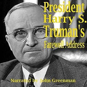 President Harry S. Truman's Farewell Address Audiobook