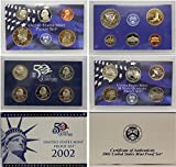 2002 S Proof set Collection Uncirculated US Mint
