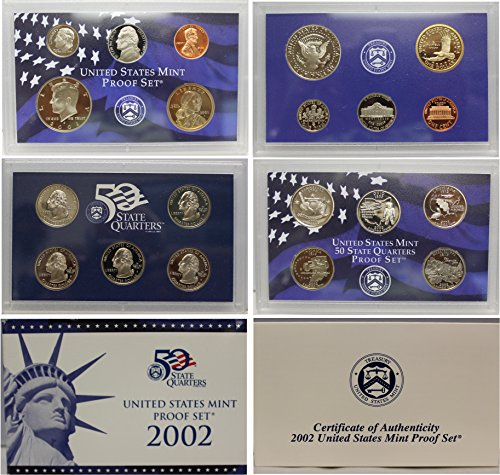 2002 S US Mint Proof Set Original Government Packaging (Bu State Quarter Collection)