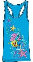 Nickelodeon Spongebob Square Pants Junior Pajama Tank Top Dress - Aqua Blue