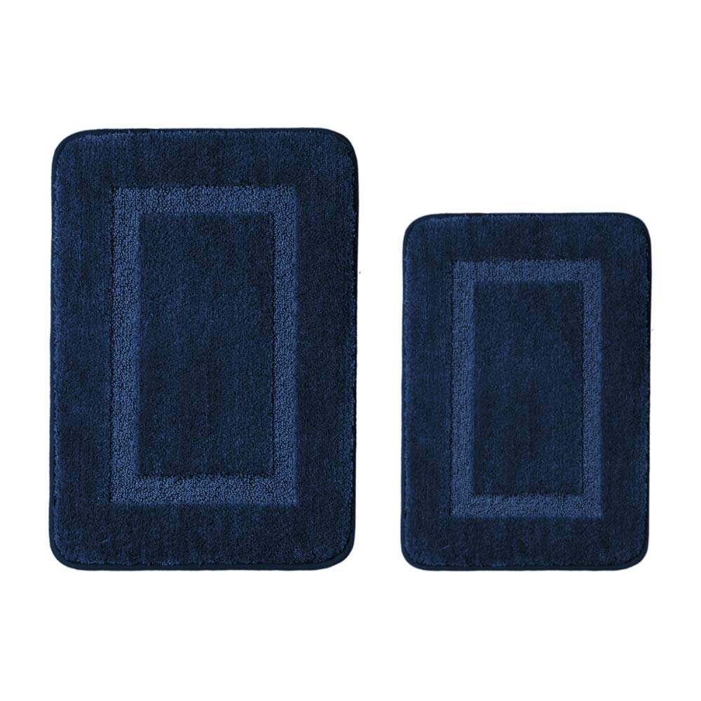 H.Versailtex Updated Version Bath Rugs Bathroom Shower Mats Rug Slip-Resistant Absorbent for Bathroom/Kitchen (TPR Backing) 1 Pack, 20 x 32- Eggshell Blue