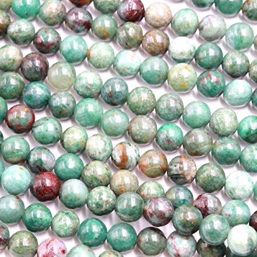 Natural Green Dragon Blood Jasper Round Gemstone Beads for Jewerly Bracelet Making (Jasper Gemstone Beads Bracelet)