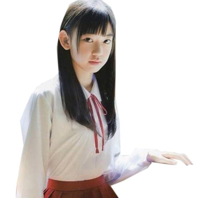 Nuevos Estudiantes Del Estilo Uniformes Chicas Japonesas Blancas De Manga Larga Camisas Jk Tops