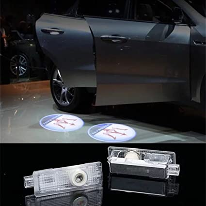 DELEIKA 2017 Maserati LOGO Car door LED logo projector Light ghost shadow light For Quattroporte Ghibli & Amazon.com: DELEIKA 2017 Maserati LOGO Car door LED logo projector ...