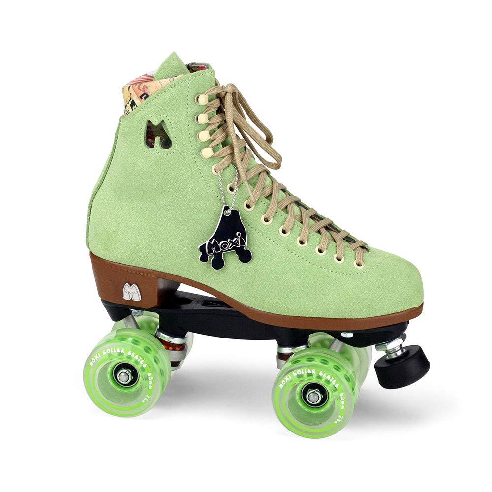 Moxi Skates - Lolly - Fashionable Womens Quad Roller Skate | Honeydew Green | Size 4