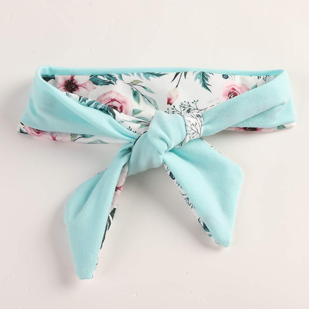 Pantaloni a Fiori Fascia per Capelli per 3-24 Mesi URMAGIC 3PCs Neonata Manica Lunga Completini T-Shirt con Cappuccio a Manica Lunga