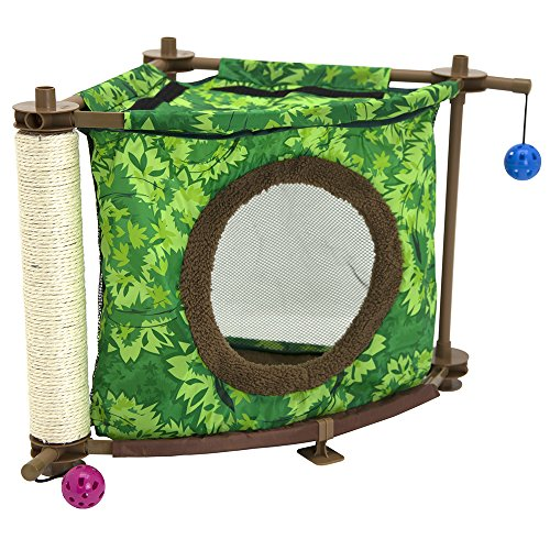 (Kitty City Rainforest Tropical Getaway Cat Furniture, Cat Toy & Cat Bed)
