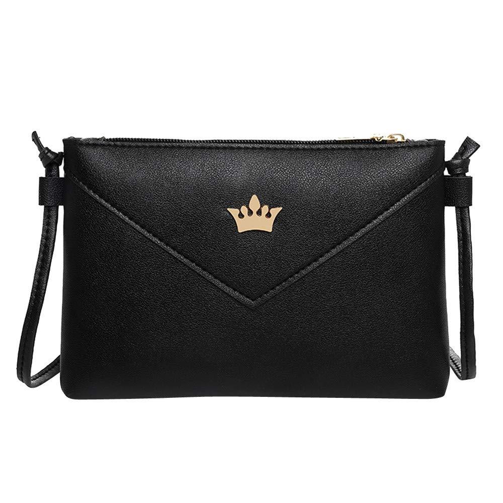 Clearance ❤ Women Bag JJLIKER Fashion Pure Color Leather Crossbody Shoulder Bag