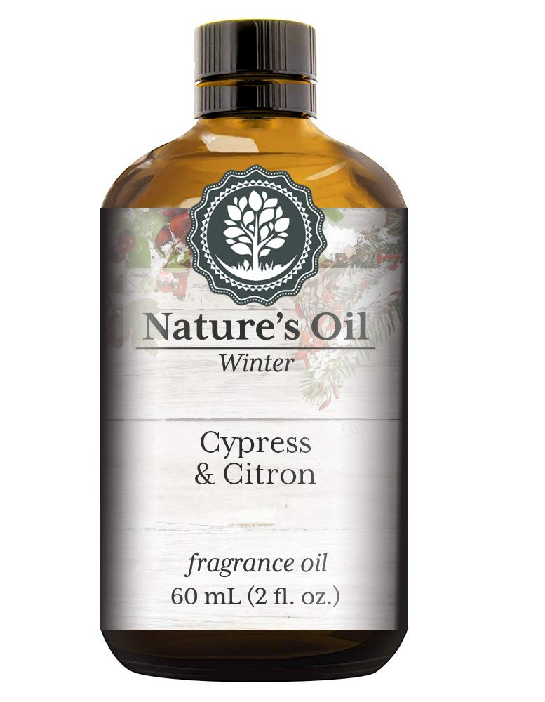 Cypress & Citron Fragrance Oil (60ml) For Diffusers, Soap Making, Candles, Lotion, Home Scents, Linen Spray, Bath Bombs, Slime