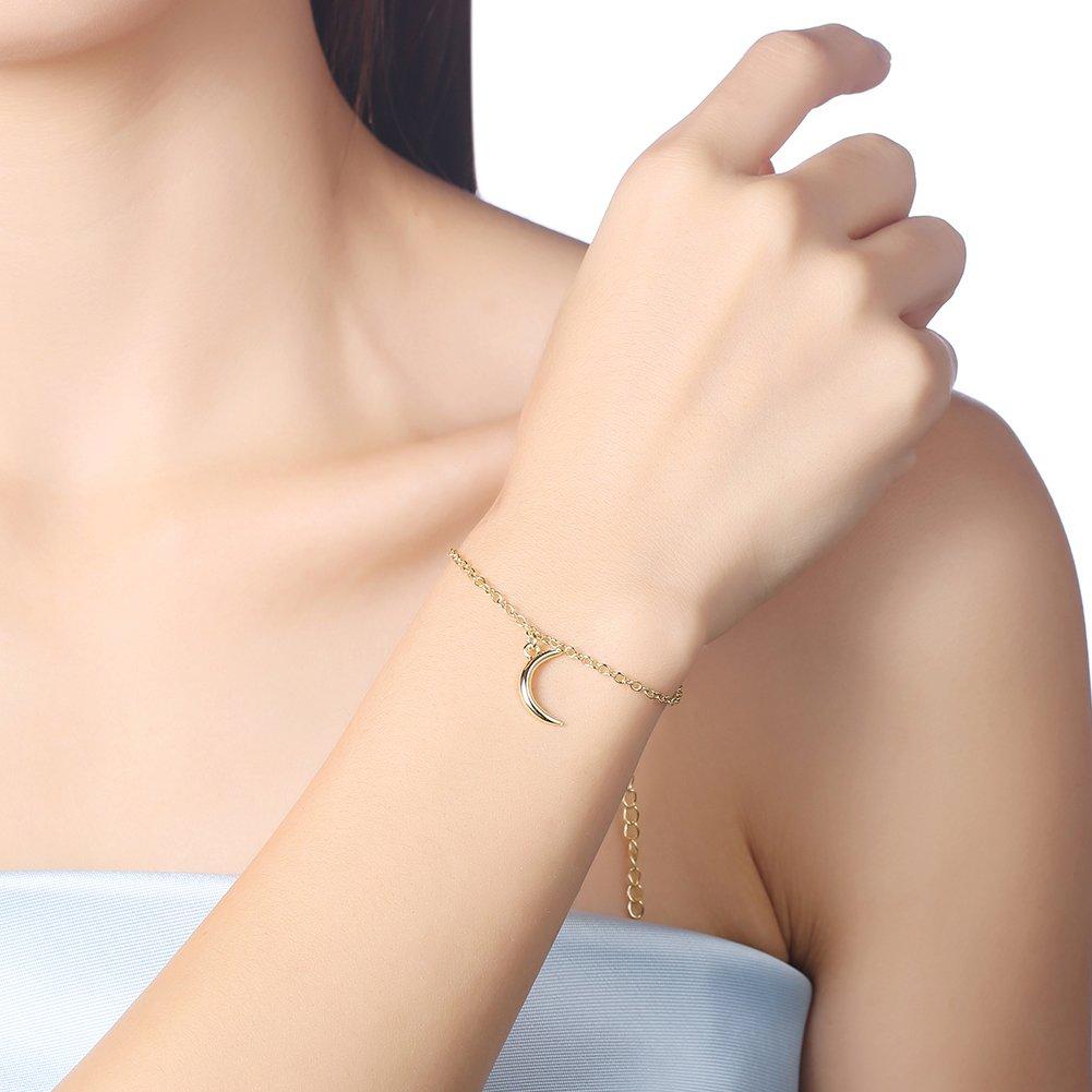 BLOOMCHARM Gold Jewelry Set Moon Pendants for Women Girls