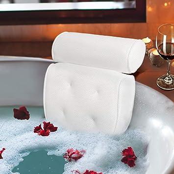 Bathroom Luxury Bathtub Foam Back Pillow Bathroom Spa Suction Cushion Head Rest