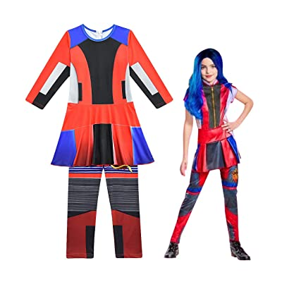 Heariao Girls Disney Evie Descendants 3 Costumes, Onesies One Piece Dress Christmas Halloween Cosplay Costumes: Clothing