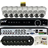 CIB True Full HD 8CH 1080P Recording and Display DVR system with 2TB HDD and 8 2Megapixel Vandal Dome Cameras Network Remote Viewing -- H80P08K2T03W-8KIT