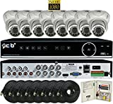 CIB True Full HD 8CH 1080P Recording and Display DVR system with 2TB HDD and 8 2Megapixel Vandal Dome Cameras Network Remote Viewing — H80P08K2T03W-8KIT