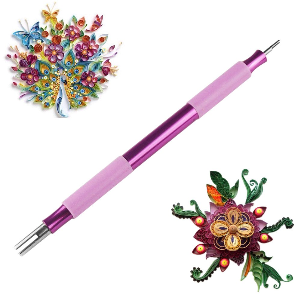 ODETOJOY 1PCクイリングペーパー2ツールキラー用DIYペーパークラフトローリングペン B00W39RJ32