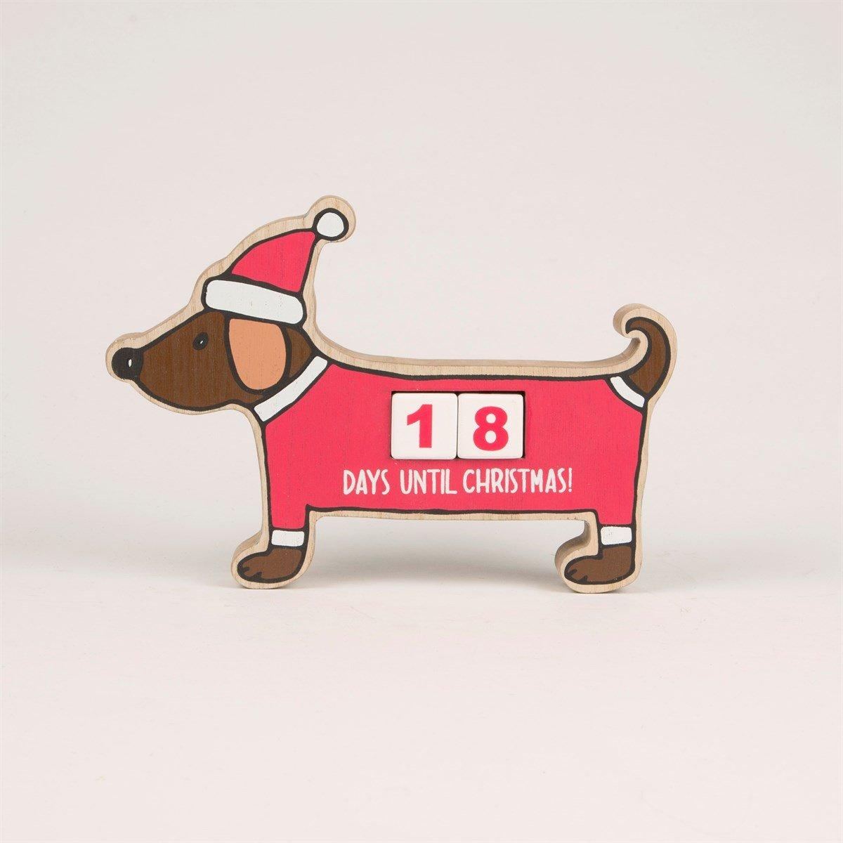 Christmas Countdown - Dachshund Block Advent Calendar Sass & Belle