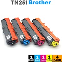 4 pcs TN251 TN255 Toner for Brother HL3150CDN HL3170CDW MFC9330CDW MFC9335CDW