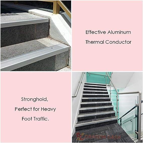 Arrowzoom - Pisadas de escalera de proteccion de bordes de 30 piezas 50 x 5 x 2 cm / 19.7 x 2 x 0.8 pulgadas Antideslizante y entramado de escalera - Borde