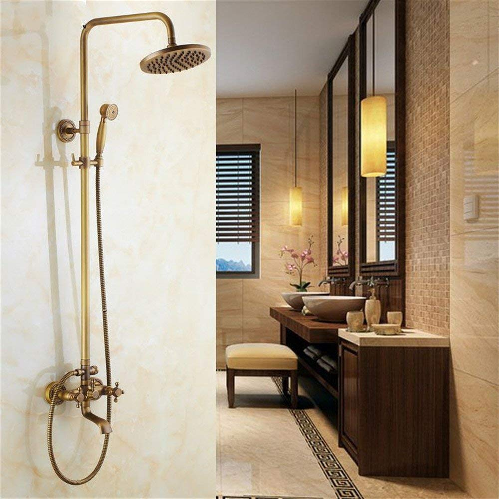 In The European Style Ancient Ancient Handheld Shower Head Sprinkler Shower Follows to The Wall Assemblies Head Lifting golden Shower Copper