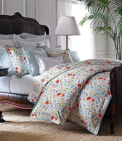 Ralph Lauren 1 PC FULL Flat Sheet - Georgica Garden Sanabel Blue Gingham