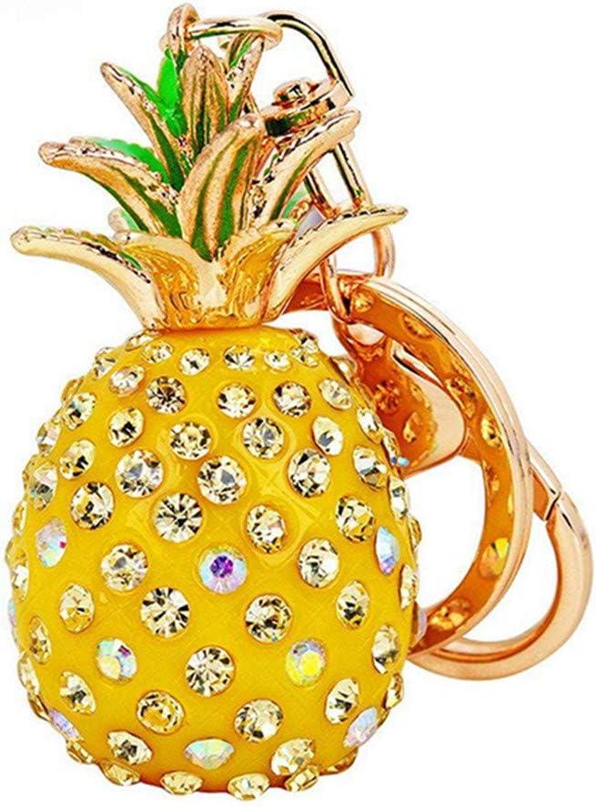 Rose Toporchid Creative Color/é Ananas Porte-cl/és Sac De Voiture Ornements Porte-cl/és Pendentif