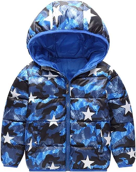 New Kids Boy Zipped Padded Hooded Camouflage Warm Puffer Coat Jacket