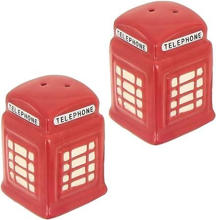 Londra/ /Set Lusso Saliera Pepiera Sale Pepe forma cabina telefonica rosso
