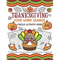 Thanksgiving Kids Word Search: Puzzle Activity Book