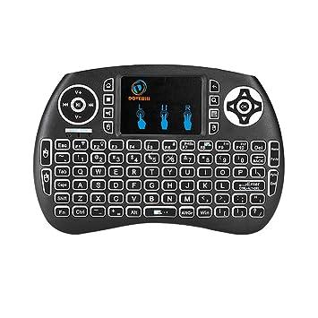 Magideal Mini Teclado sin Hilos Inglés Bluetooth Touchpad Teclado retroiluminado para Tablet PC: Amazon.es: Electrónica