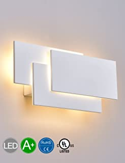 Amazon topmo modern 18w acrylic led wall sconces aluminum solfart led up down wall lights indoor wall sconce lamps bedroom living room decorate white aloadofball Image collections