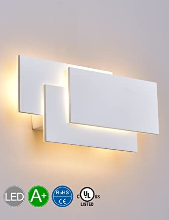 SOLFART LED Up Down Wall Lights Indoor Wall Sconce Lamps Bedroom Living Room  Decorate (White