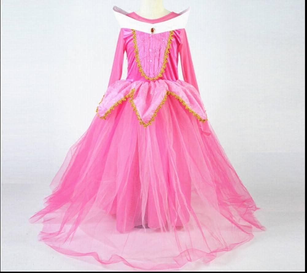 Vestido para niñas de princesa Aurora, disfraz de bella durmiente ...