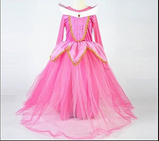 Vestido para niñas de princesa Aurora, disfraz de bella durmiente