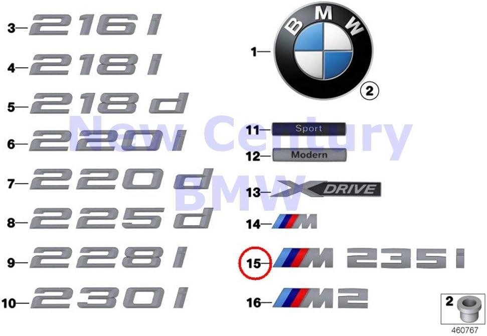 BMW Genuine Emblem Adhered